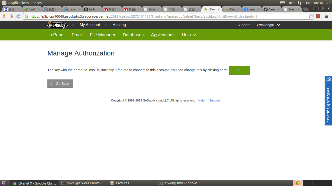 Godaddy Manage Ssh Key Step3 Enable It