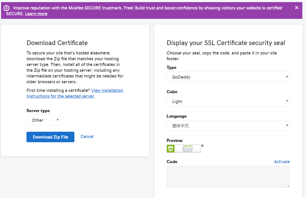 Godaddy Ssl Ready